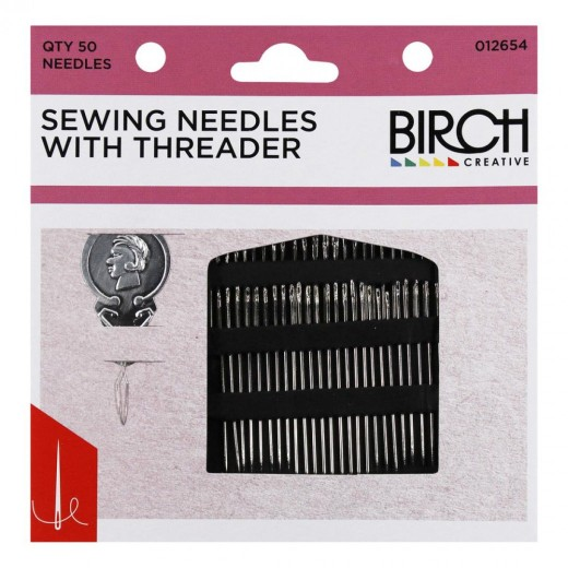 Birch Needles with Threader 50