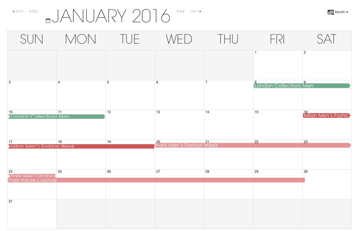 weeks calendar 2016