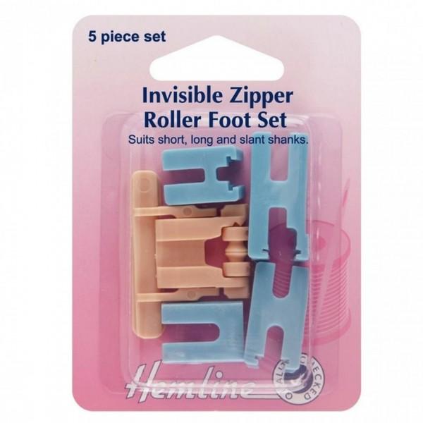 Invisable zipper foot
