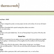 Therm-O-Web Pressning Paper
