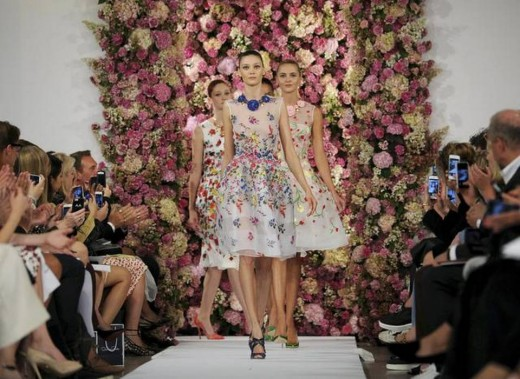 New York-APTOPIX Fashion Oscar de la Renta Spring 2015