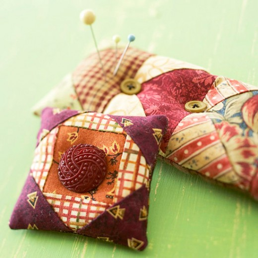 Patchwork pin cushion 2